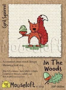Mouseloft Cyril Squirrel In The Woods cross stitch kit